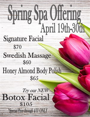 Spring Spa Offering  Photo
